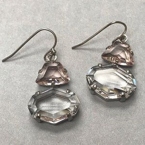 Sorrelli Lt.Rose & Clear Crystal Dangle Earring